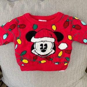 Disney kids Christmas Mickey sweater